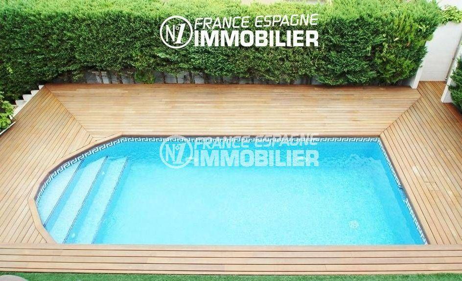 ventes immobilieres rosas espagne: villa ref.1636, vue plongeante sur la piscine
