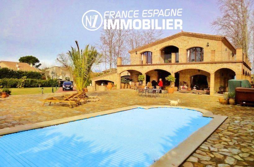 achat immobilier costa brava: villa ref.936, vue sur la villa et la piscine au sel