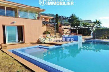 maison costa brava, ref.2058, aperçu de la piscine de 5 m x 10 m et du jacuzzi