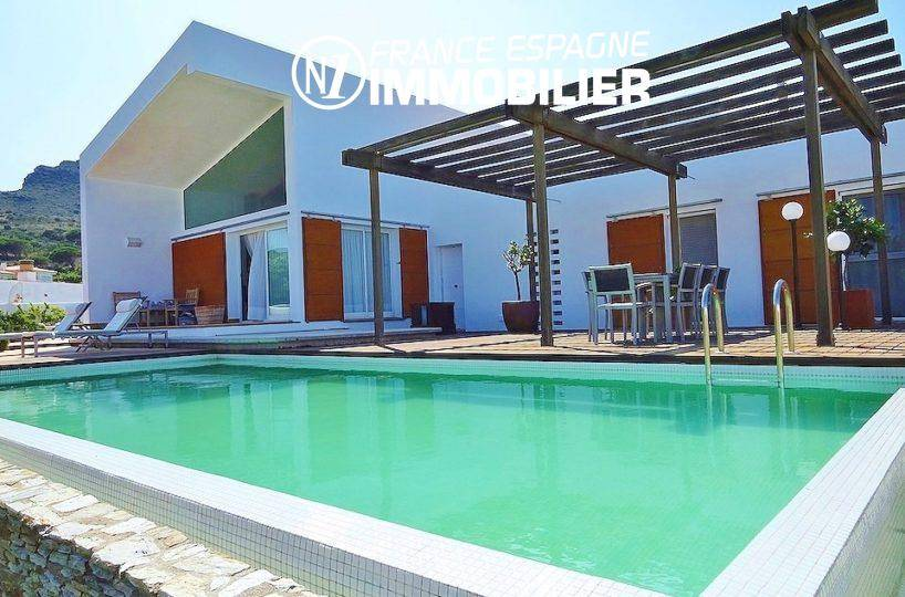 immo llanca: maison à vendre avec vue mer & piscine à Port de la Selva