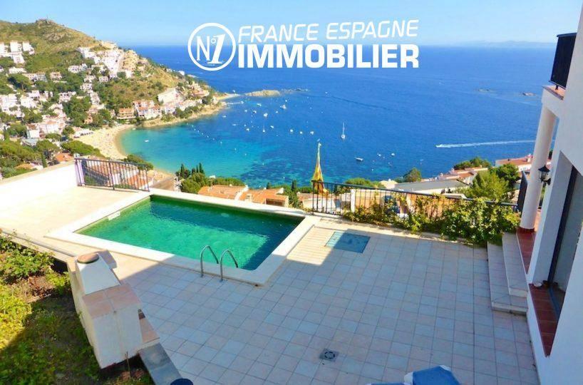 almadrava roses - vente immobiliere espagne - villa standing 241 m², superbe vue mer