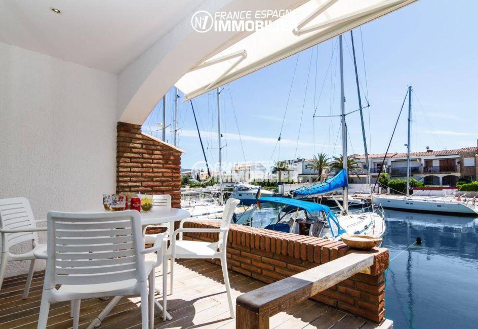 immo costa brava: villa ref.3305, terrasse de 20 m² vue canal