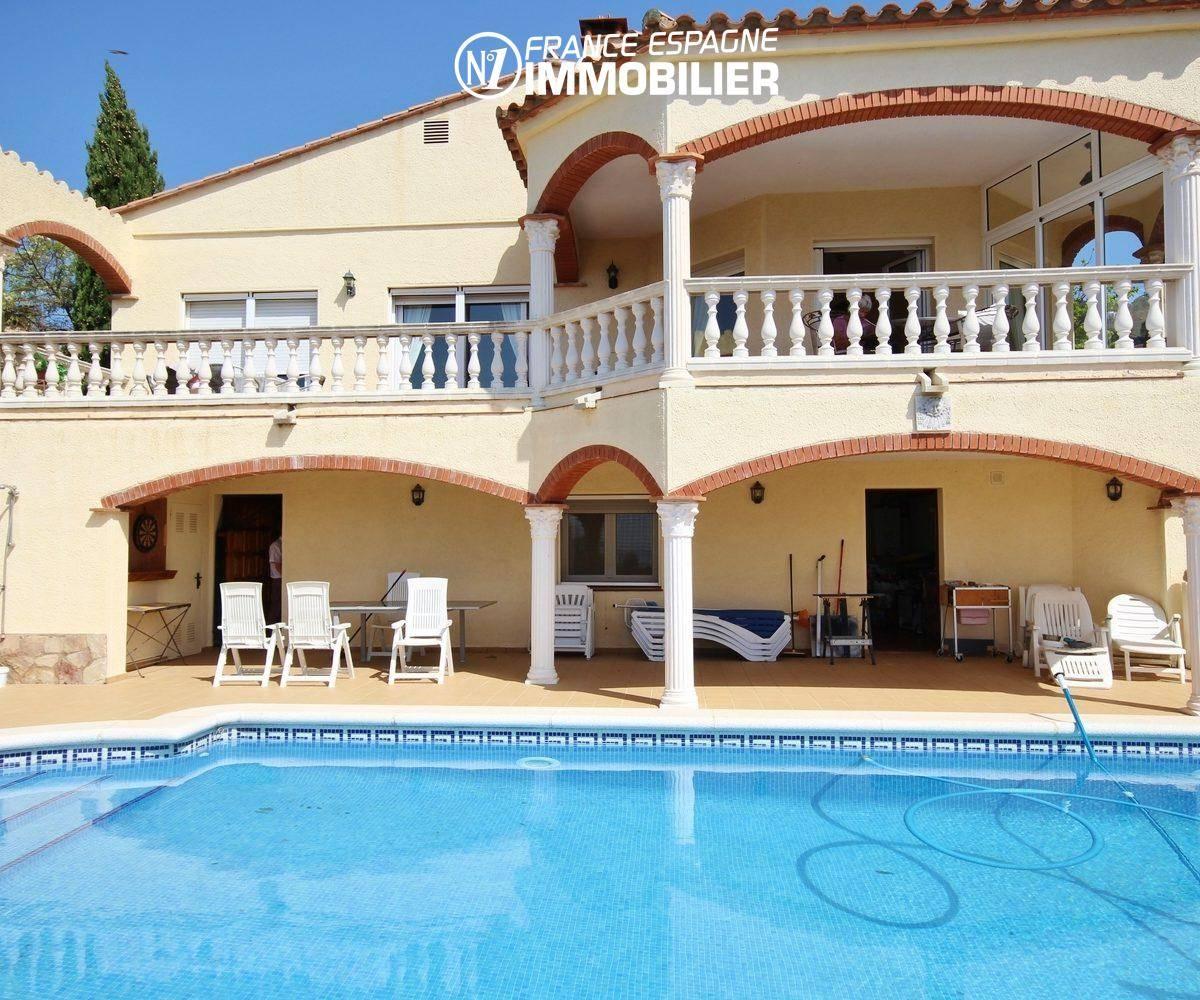 immo roses: villa 283 m², ref.730, vue mer & piscine