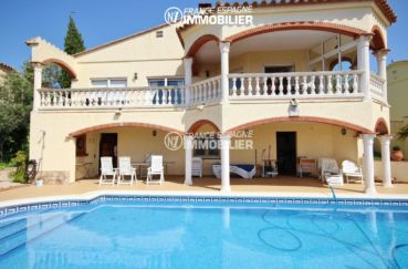 agence immobiliere rosas santa margarita, vend villa ref.730, vue mer & piscine privée
