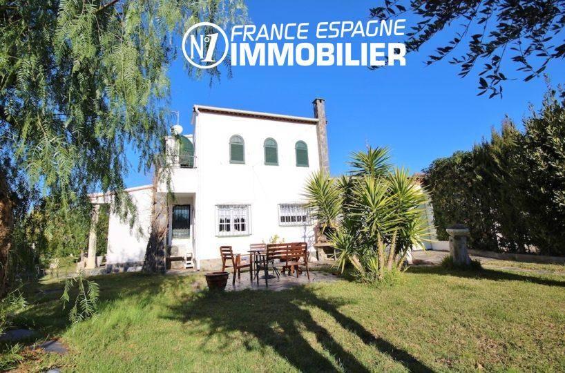 immobilier espagne: villa 132 m², Rosas exposition sud, vue canal