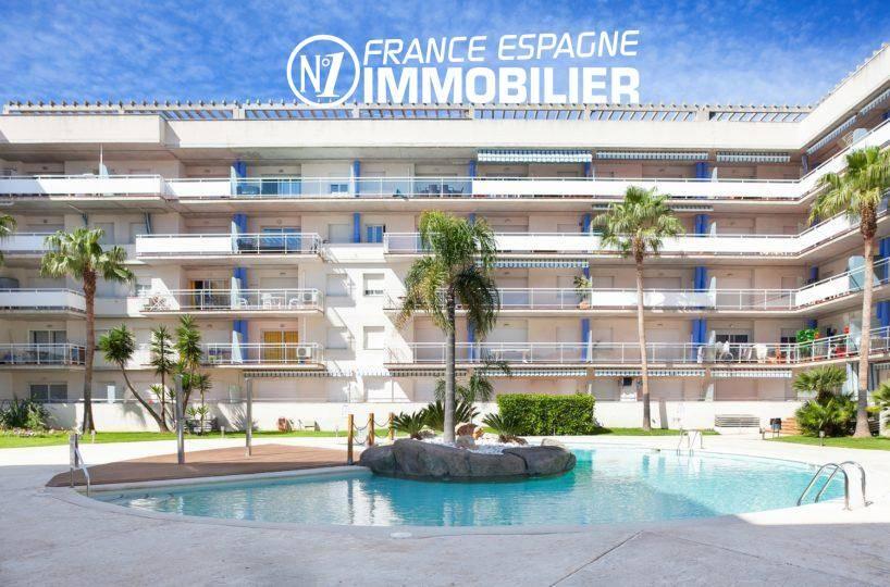 immo costa brava: bel appartement ref.3301, 2 chambres avec piscine