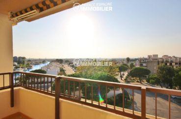 appartement a vendre rosas, ref.3308, atico, terrasse vue canal, proche plage