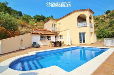 palau saverdera, villa vue mer avec cuisine d'été, piscine et garage, ref.3203