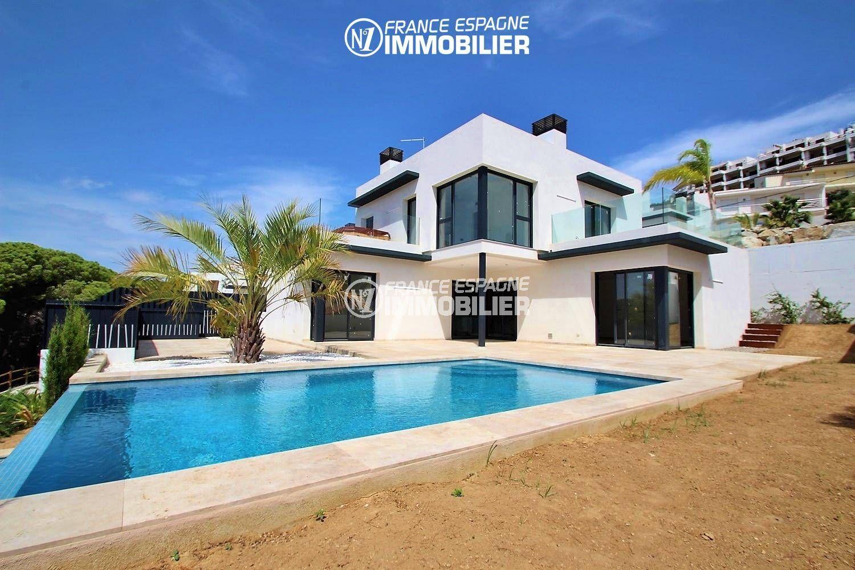 maison a vendre espagne, ref.3268, vue mer, accès direct à la plage, piscine et garage