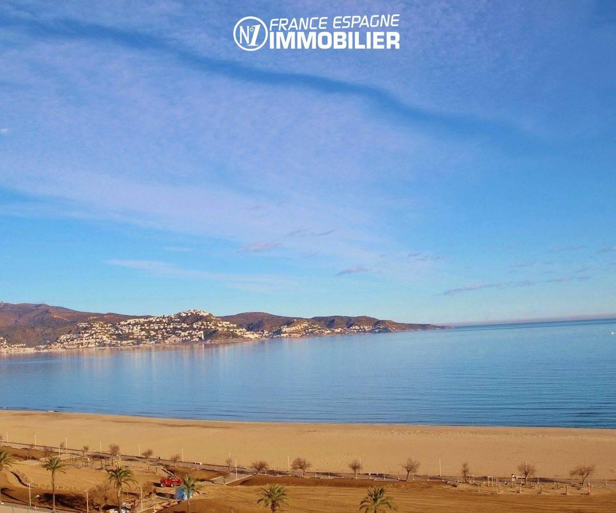 immobilier ampuriabrava - appartement front de mer à vendre