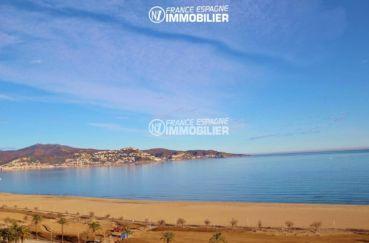 immobilier ampuriabrava - appartement avec jolie vue mer, plage et commerces à 50 m