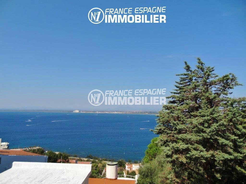maison a vendre rosas vue mer, ref.312, magnifique paysage de la terrasse
