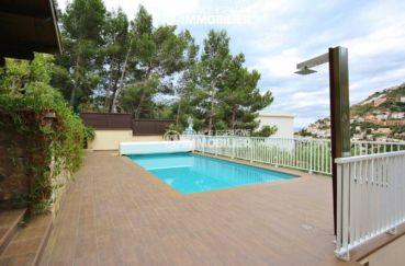 agence immobiliere rosas: villa ref.1031, vue sur la piscine avec douche