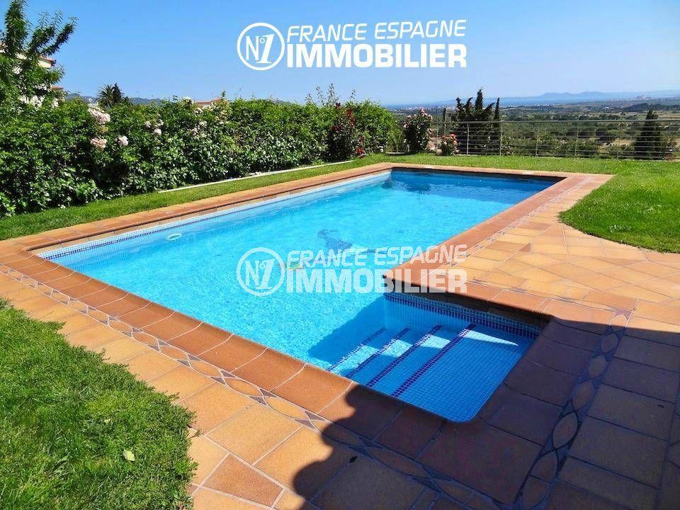 maison a vendre costa brava,  ref.1803, solarium, piscine 8 x 4 m, jardin 1000 m²