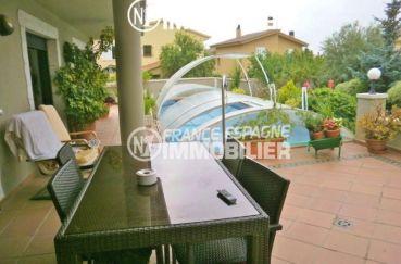vente immobilier costa brava: villa ref.1042, la piscine couverte au sel
