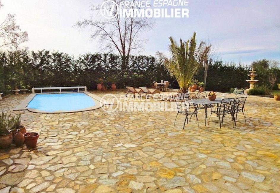 maison costa brava, ref.936, piscine avec grande terrasse coin repas et détente