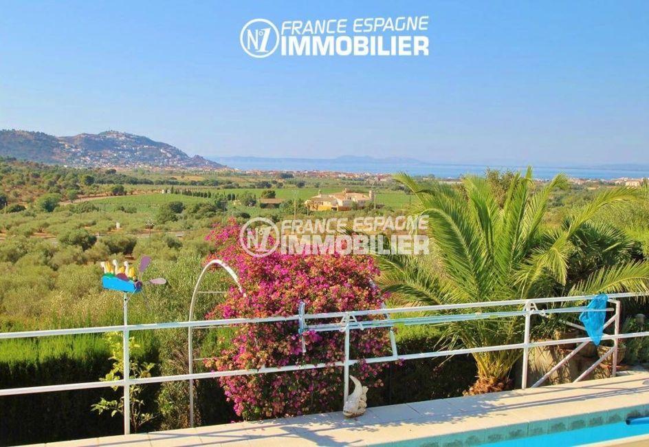 immo roses espagne: villa ref.2606, vue splendide sur la mer et les montagnes