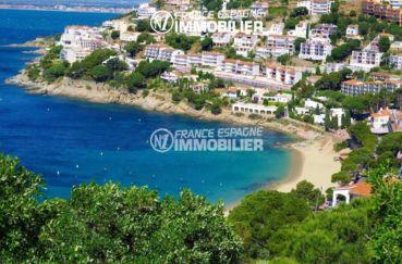 immo espagne costa brava: villa ref.1031, vue plage et côte depuis la terrasse