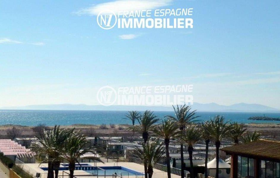 immo empuriabrava: appartement ref.3363, vue mer dégagée depuis la terrasse