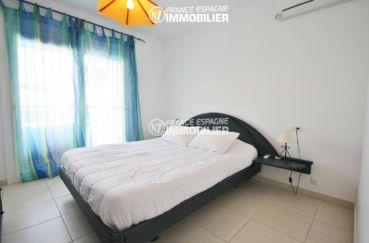 habitaclia rosas: villa 179 m², chambre 6 avec un lit double