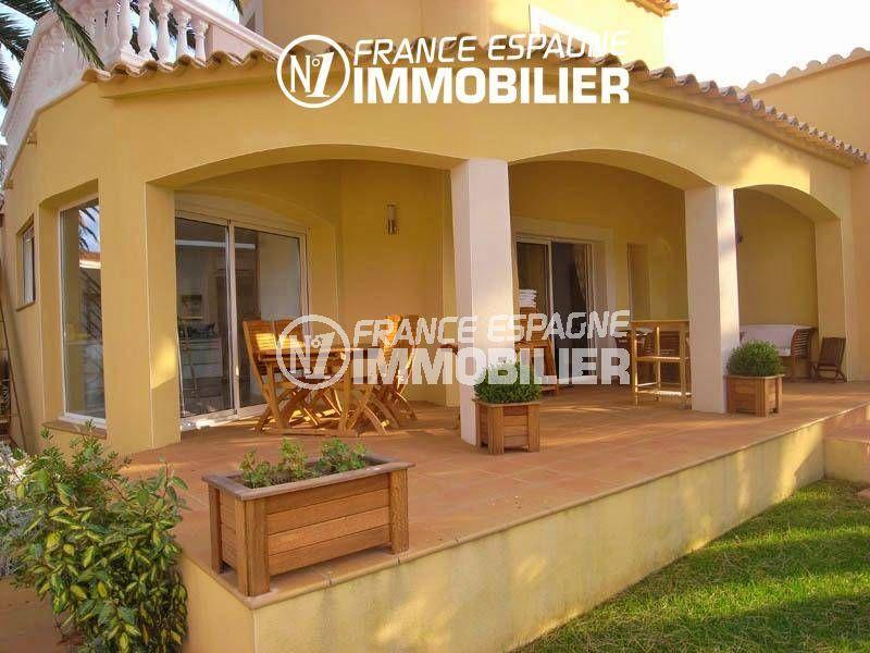 immo costa brava: belle villa 200 m², amarre, piscine, jardin 700 m²