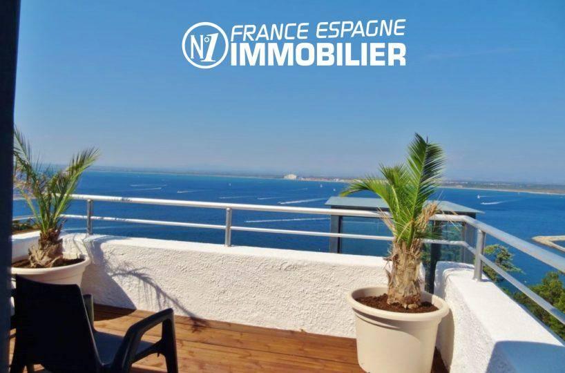 vente immobilier rosas espagne: villa ref.312, vue imprenable de la terrasse