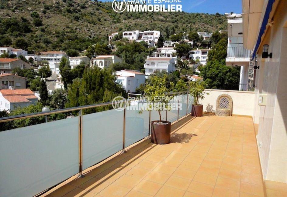 immobilier rosas espagne: villa ref.1031, aperçu de la terrasse vue dégagée