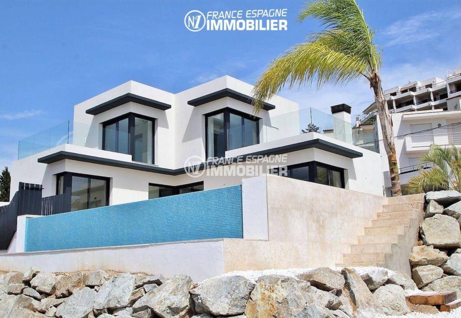 la costa brava: villa ref.3269, vue extérieur aperçu de la terrasse à l'étage