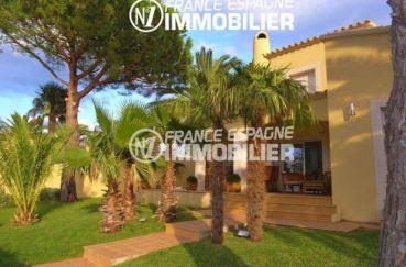 costa brava: à vendre, belle villa 200 m², amarre, piscine, jardin 700 m²