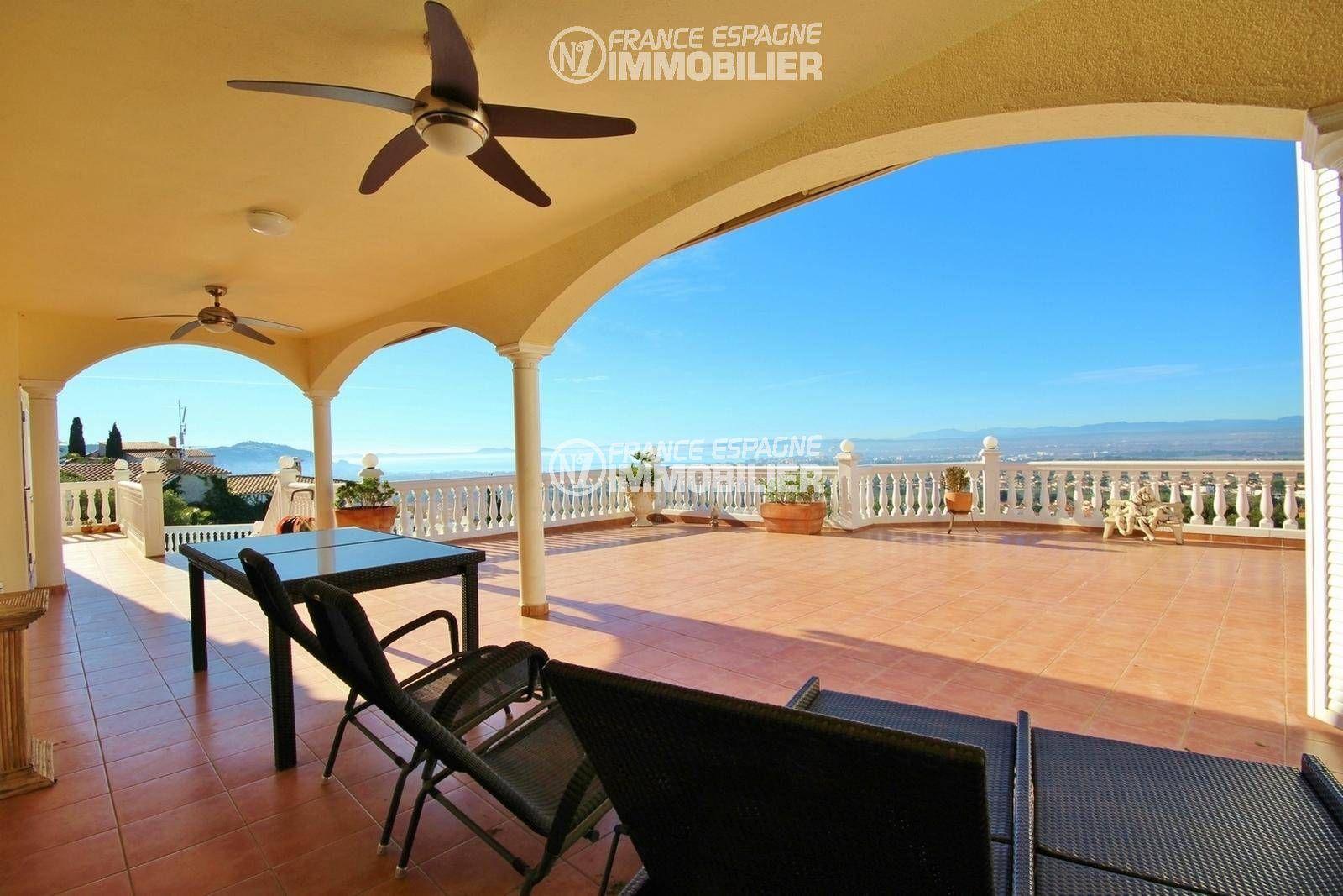maison costa brava, ref.3326, vaste terrase vue mer panoramique