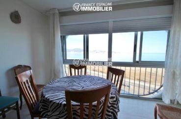 immobilier empuriabrava: appartement 53 m², terrasse avec vue sur le front de mer