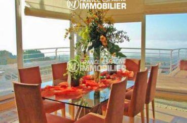 agence immobiliere palau saverdera: villa ref.2058, salle à manger avec vue sur la mer
