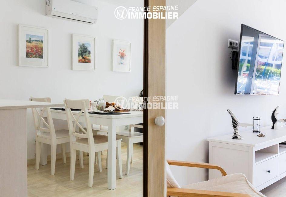 maison a vendre costa brava, ref.3305, aperçu salle à manger climatisée