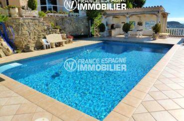vente immobilier rosas espagne: villa ref.1924, vue sur la piscine et le coin détente
