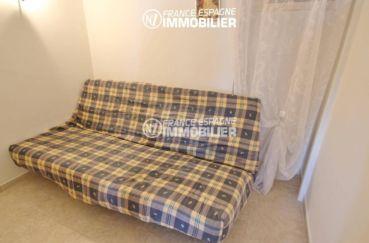 immobilier espagne costa brava: appartement 53 m², deuxième chambre avec canapé convertible
