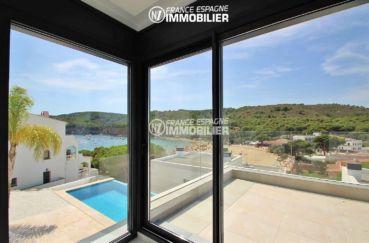 maison a vendre espagne catalogne, ref.3269, vue piscine et mer depuis la suite parentale