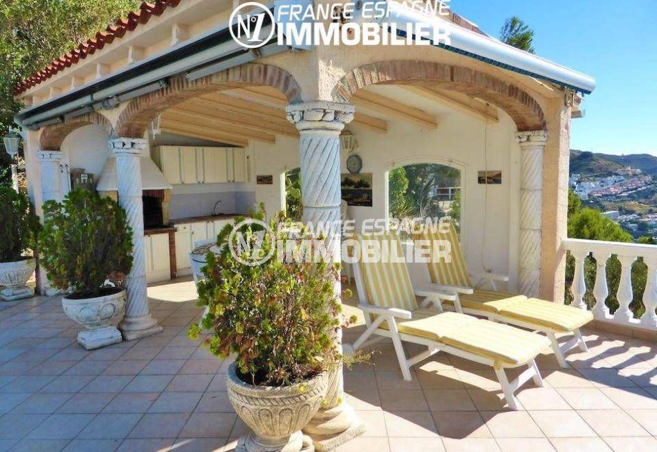 ventes immobilieres rosas espagne: villa ref.1924, espace détente avec cuisine d'été