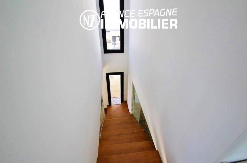 costa brava house: villa ref.3268, escalier qui dessert les chambres