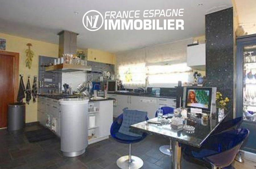 costa brava house: villa ref.2058, cuisine américaine ouverte sur la salle à manger