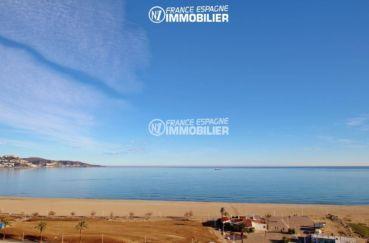 vente immobilier costa brava: appartement 53 m², magnifique vue sur le front de mer depuis la terrasse