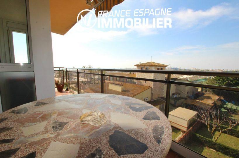 agence immobiliere empuriabrava: appartement ref.3363, table de déjeuner sur la terrasse