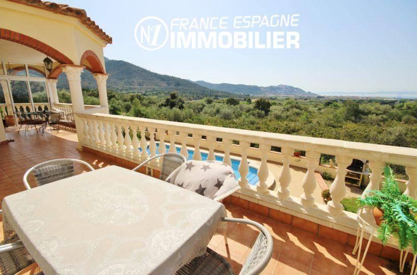 maison a vendre a rosas: villa ref.730, vue terrasse à l'étage