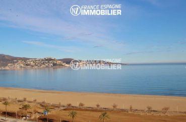 appartement a vendre costa brava, proche plage, terrasse avec vue magnifique sur la plage