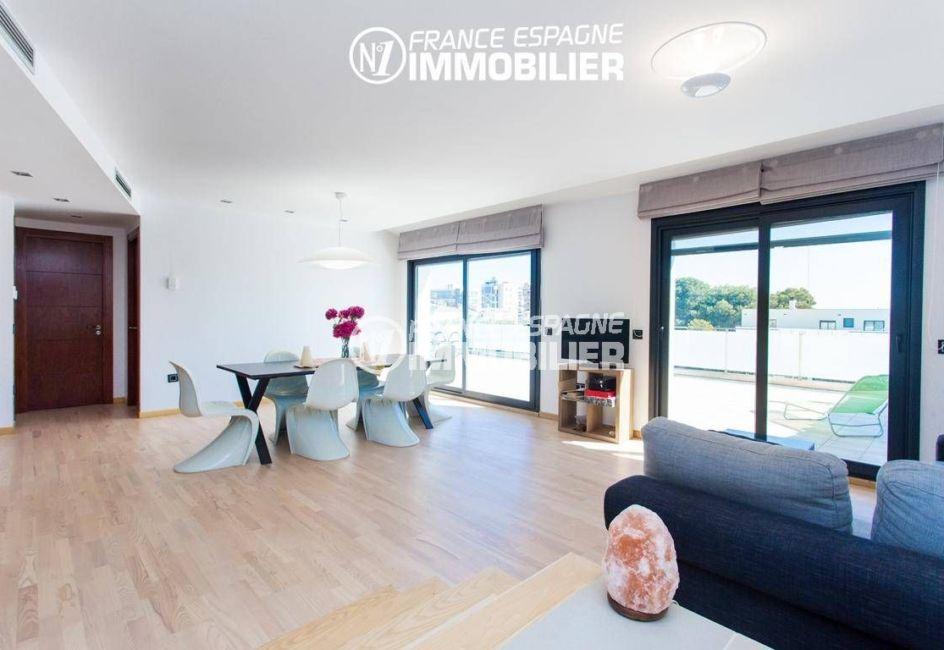 agence immobilière roses: villa ref.3220, appartement indépendant salon / salle à manger