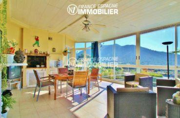 vente immobiliere rosas espagne: villa ref.2606, véranda lumineuse et spacieuse