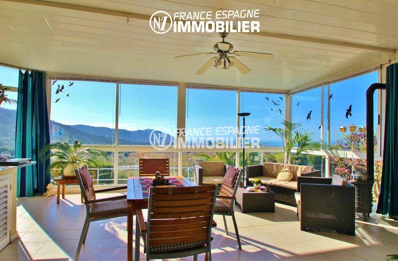 ventes immobilieres rosas espagne: villa ref.2606, coin détente, vue mer et montagnes