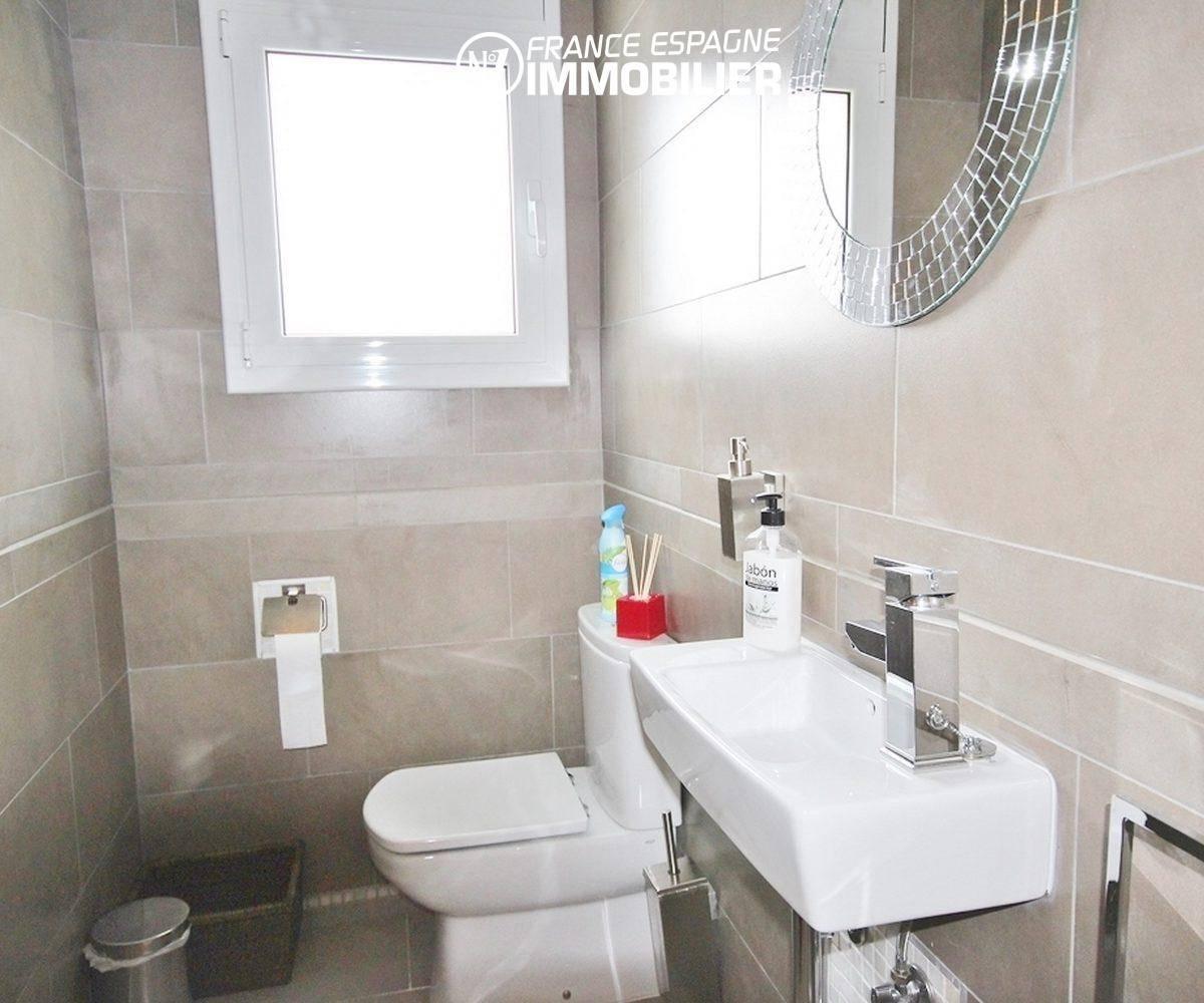 agence immobiliere rosas espagne: villa ref.1031, toilettes indépendant et vasque