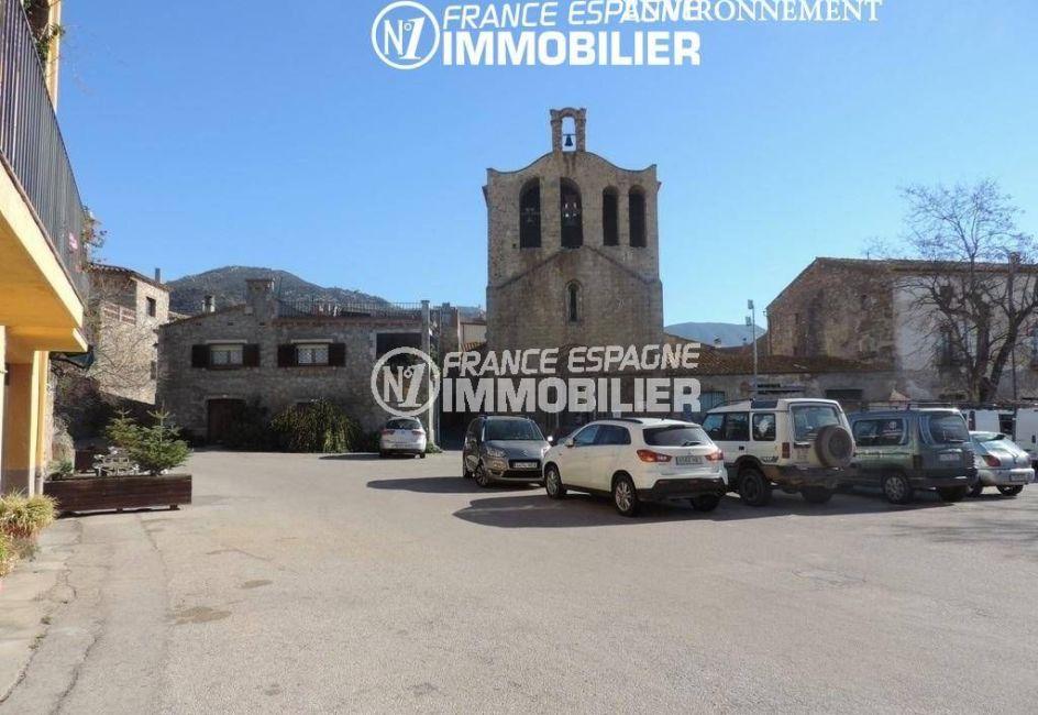 maison à vendre en espagne costa brava, ref.2058, vue sur l'église saint jean à palau
