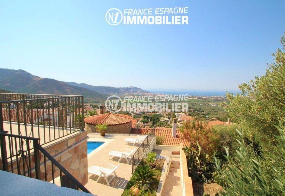 immo center roses: villa ref.2435, paysage magnifique depuis la terrasse
