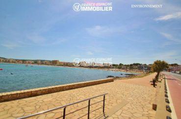 acheter costa brava: villa ref.3269, vue sur la mer et l'allée piétonne à proximité